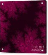 Frosty Fuchsia Fantasy Fractal Acrylic Print