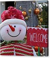 Frosty Greetings Acrylic Print