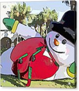Frosty Is Here Acrylic Print