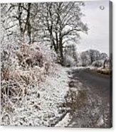Frosty Road Acrylic Print