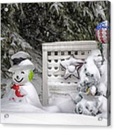 Frosty The Snow Man Acrylic Print