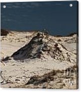 Frosty White Dunes Acrylic Print by Adam Jewell
