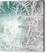 Frosty Windowpane Acrylic Print