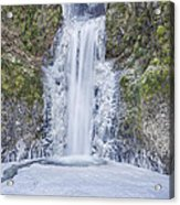 Frozen At Multnomah Falls Acrylic Print