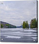 Frozen Bear Creek Lake Acrylic Print
