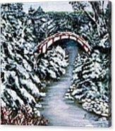 Frozen Brook - Winter - Bridge Acrylic Print