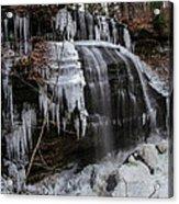 Frozen Buttermilk Falls Acrylic Print by Anthony Thomas