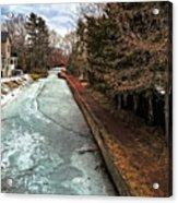 Frozen Canal Acrylic Print