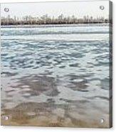 Frozen Dnieper River Acrylic Print