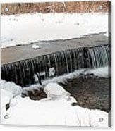 Frozen Falls At Pine Creek Acrylic Print