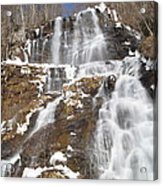 Frozen Falls From The Bridge Acrylic Print