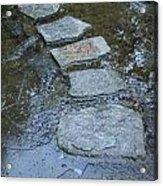 Slippery Stone Path Acrylic Print