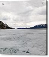 Frozen Lake Laberge Yukon Canada Acrylic Print
