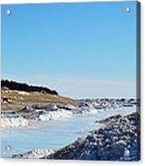Frozen Lake Michigan Acrylic Print