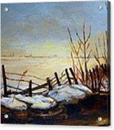 Frozen Lake Near Ste. Adele Acrylic Print