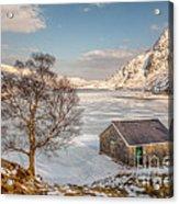 Frozen Lake Ogwen Acrylic Print