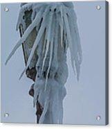 Frozen Lantern At The Falls Acrylic Print