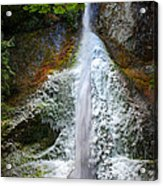 Frozen Marymere Falls Acrylic Print