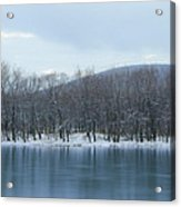 Frozen Mountain Lake Acrylic Print