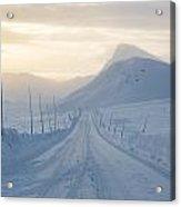 Frozen Mountain Road Acrylic Print