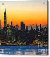 Frozen-new York At Dawn  Acrylic Print