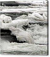 Frozen Niagara River Rapids Above Niagara Falls Acrylic Print