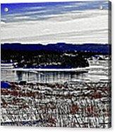 Frozen Pond Digital Painting Acrylic Print
