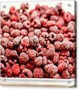 Frozen Raspberries Acrylic Print