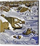 Frozen Roaring River Acrylic Print by Tom Wilbert
