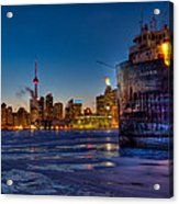 Frozen Skyline Acrylic Print