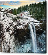 Frozen Snoqualmie Falls Acrylic Print
