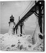 Frozen St. Joseph Lighthouse Acrylic Print