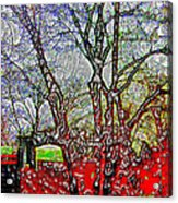 Frozen Sunday Time Acrylic Print