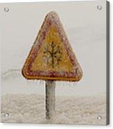Frozen Traffic Sign Acrylic Print