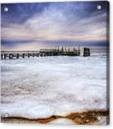 Frozen Tundra Of Long Island Acrylic Print