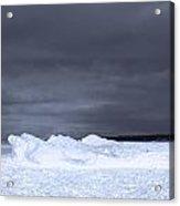 Frozen Wave On Lake Michigan Acrylic Print