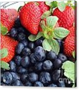 Fruit 2- Strawberries - Blueberries Acrylic Print