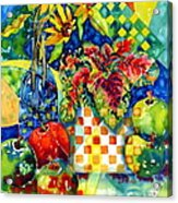 Fruit And Coleus Acrylic Print