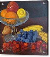 Fruit And Glass Acrylic Print