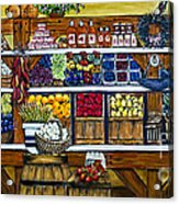 Fruit And Vegetable Market By Alison Tave Acrylic Print