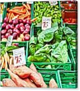 Fruit And Vegetable Stall Acrylic Print