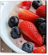 Fruit And Yogurt Snack 2 Acrylic Print by Barbara Griffin