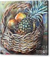 Fruit Basket Acrylic Print by Melanie Alcantara Correia