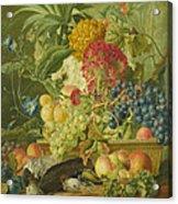 Fruit Flowers And Dead Birds Acrylic Print