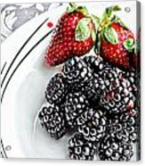 Fruit I - Strawberries - Blackberries Acrylic Print