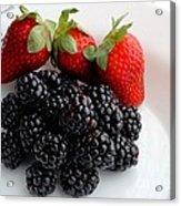 Fruit IIi - Strawberries - Blackberries Acrylic Print