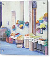 Fruit Market In Tuscany Acrylic Print