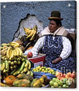 Fruit Seller Acrylic Print by James Brunker