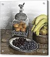 Fruit Still Life Acrylic Print by Lesley Rigg