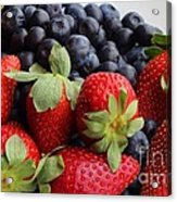 Fruit - Strawberries - Blueberries Acrylic Print by Barbara Griffin
